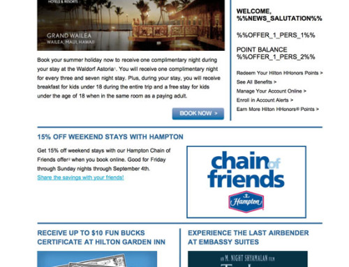 AMEX: Hilton Newsletter